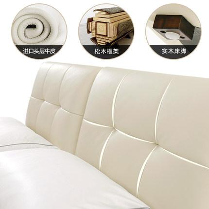 KUKa  giường  Gujia Home Wedding Bed Bed 1.8m Tatami Bed Master Phòng ngủ hiện đại Đơn giản Phòng ng