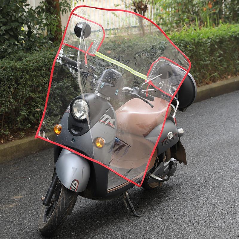 Tấm chắn gió Kính chắn gió xe điện mùa thu và mùa đông xe máy chống gió pin ba bánh rainshield nhựa