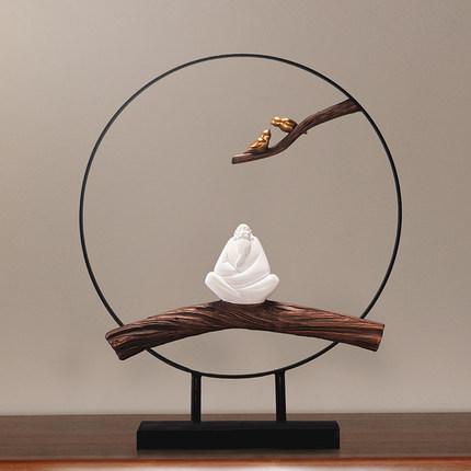 Đồ trang trí bằng cao su  Hiện đại tối giản mới Trung Quốc phòng trà Zen nghiên cứu phòng khách hiên