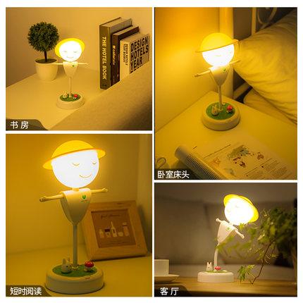 ONEFIRE  Đèn tường  Âm thanh Bluetooth đêm ánh sáng phòng ngủ đầu giường bù nhìn cô gái sáng tạo in