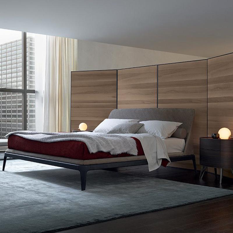 XIANJUE giường Ánh sáng Bắc Âu sang trọng giường gỗ rắn 1,8 mét giường đôi chính phòng ngủ căn hộ nh
