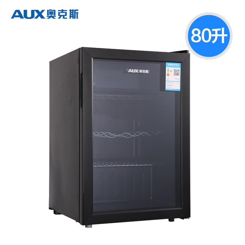 AUX Tủ lạnh / Oaks JC-80 một cửa tủ lạnh nhỏ tủ lạnh thanh đá tủ lạnh tủ đông kính trong suốt hiển t
