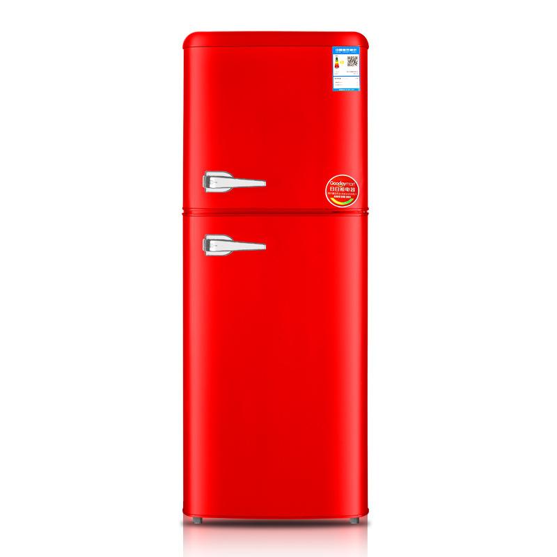 Chigo Tủ lạnh 156L Tủ lạnh Retro màu châu Âu Văn phòng Tủ lạnh đôi nhỏ trong nhà Tủ lạnh Tủ lạnh