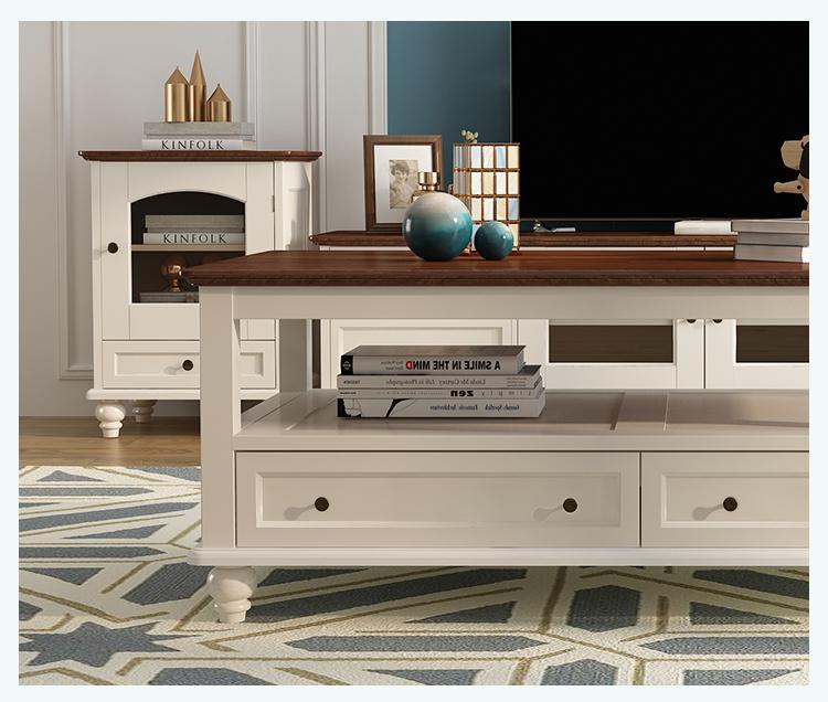 Bàn trà Nước Mỹ tinh khiết gỗ bàn cà phê đơn giản bàn trà căn hộ nhỏ sân vườn bàn cà phê TV tủ kết h