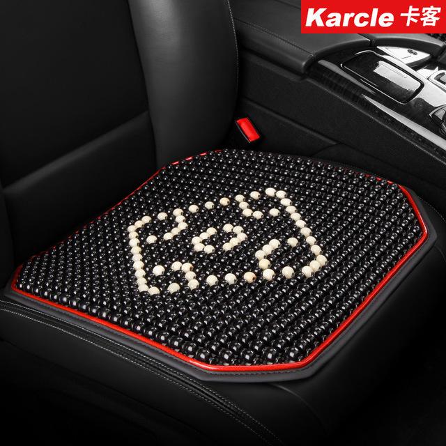 KAKE - Đệm Lót ghế ô tô hạt gỗ loại miếng vuông đơn .
