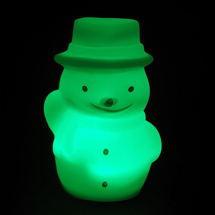 ZPJJ Đèn tường Glowing Đồ chơi Giáng sinh Người tuyết đầy màu sắc Đèn đêm Giáng sinh Flash Đồ chơi t