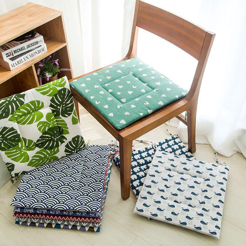 AISIYU Đệm massage Phong cách Bắc Âu đệm mùa thu và mùa đông ghế đệm bàn ăn học sinh lớp học ghế văn