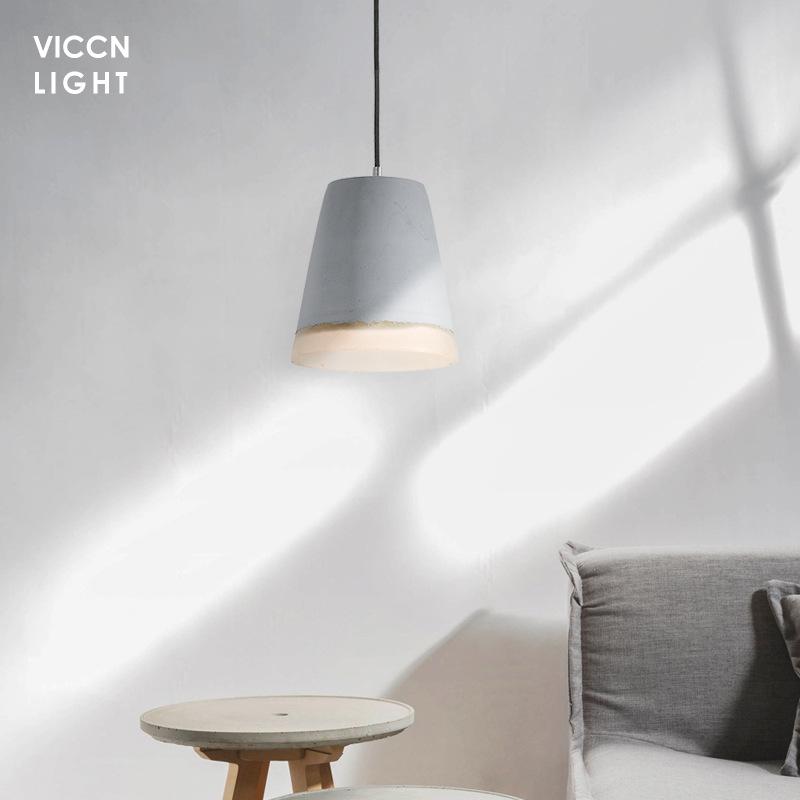 VICCN Đèn treo trần Nhà máy trực tiếp đèn chùm xi măng retro Bắc Âu nhà hàng hiện đại đèn phòng ngủ