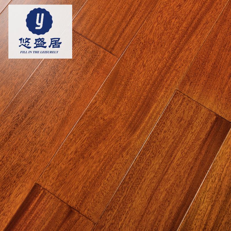 YOUSHENGJU Ván sàn Bạn Shengju nguyên khối sàn gỗ nguyên khối bán trực tiếp Ghana đĩa đậu gỗ rắn 18m