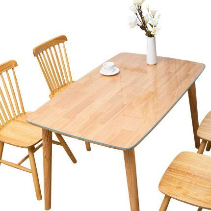 yimu Bàn trà  Khăn trải bàn bằng thủy tinh mềm không thấm nước chống thấm dầu dùng một lần rửa trong