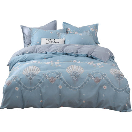 Beijirong drap mền  Bộ đồ giường bằng vải nhung Bắc cực bốn mảnh cotton bed quilt quilt bed ba mảnh