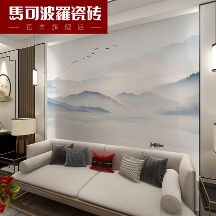 MARCO POLO  Gạch men sứ  Marco Polo ốp tường nền phòng khách mới của Trung Quốc TV nền tường Castle