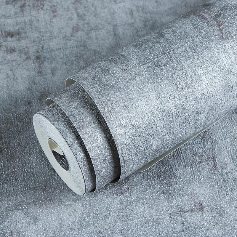 VEISDN Giấy dán tường Retro hoài cổ xi măng xám đồng bằng gió công nghiệp hình nền màu rắn nhà hàng