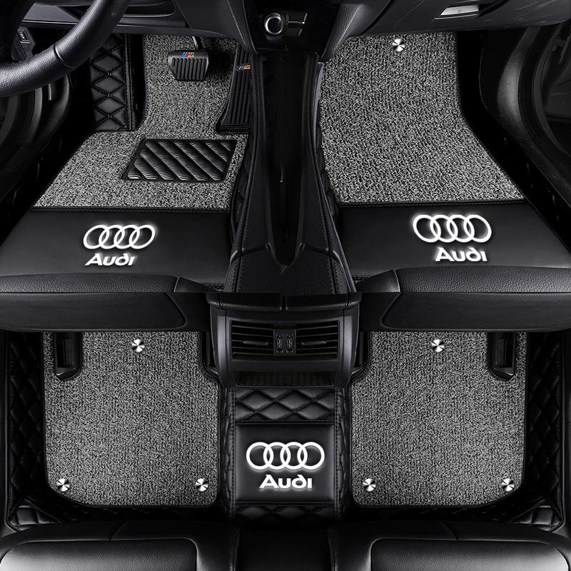 JINBAIDAI Bộ khung khuếch tán khí Thích hợp cho Audi A4L A6L Q3 Q5L đệm chân xe đầy đủ Q2L A3 A5 hai