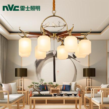 NVC Đèn treo trần NVC Light Luxury New China National Wind Full Copper Modern American Đèn chùm phức