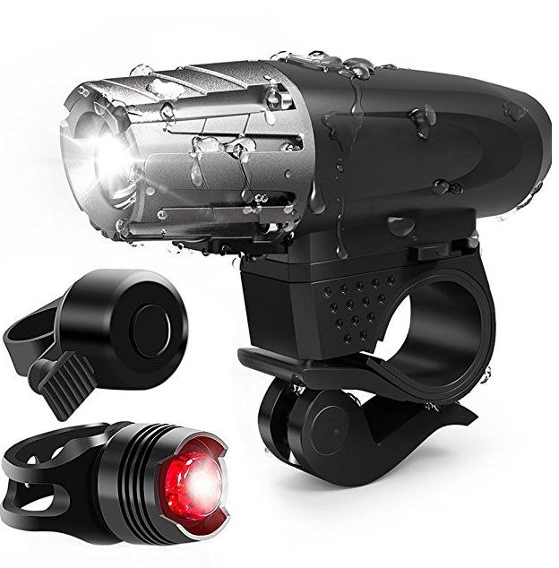 FUJIZHE đèn xe 2256 Xe đạp leo núi USB Đèn pha sạc 300 Đèn pha siêu sáng đêm siêu sáng