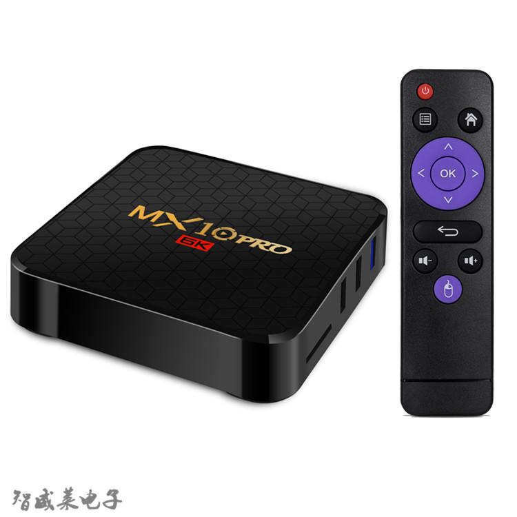 OEM Thiết bị kết nối Internet cho TV mx10 pro h6 set-top box 4G + 64GB Android 9.0 trình phát mạng t