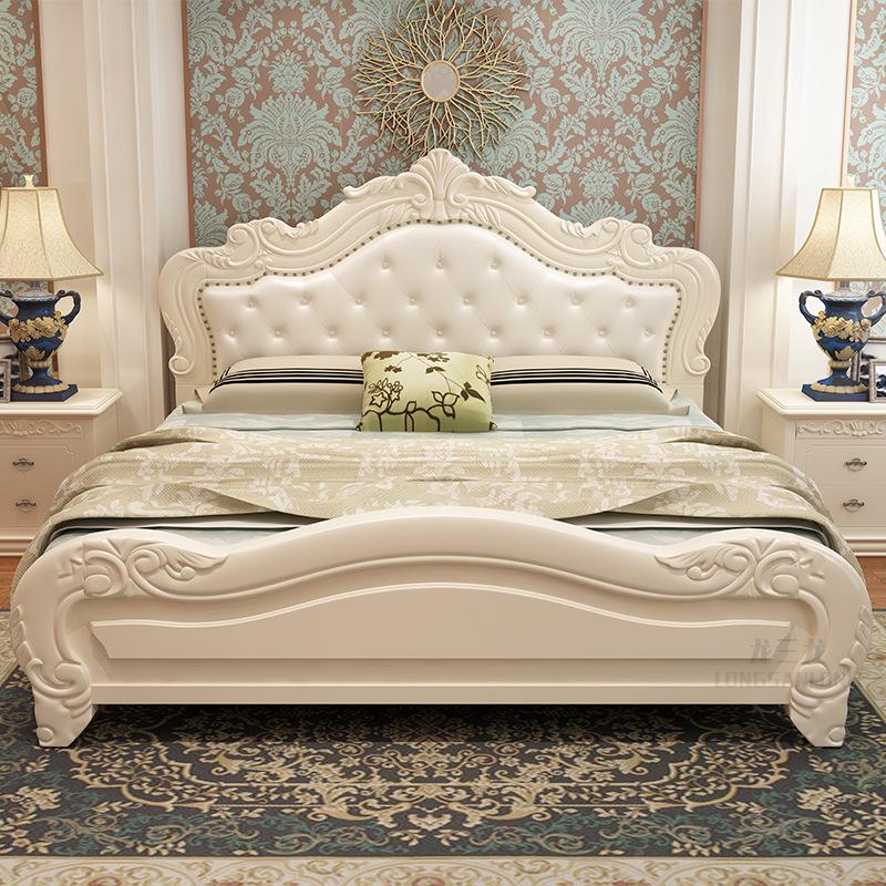 YUCHAO Giường châu Âu giường đôi chính phòng ngủ hiện đại tối giản kinh tế công chúa giường 1,8 mét