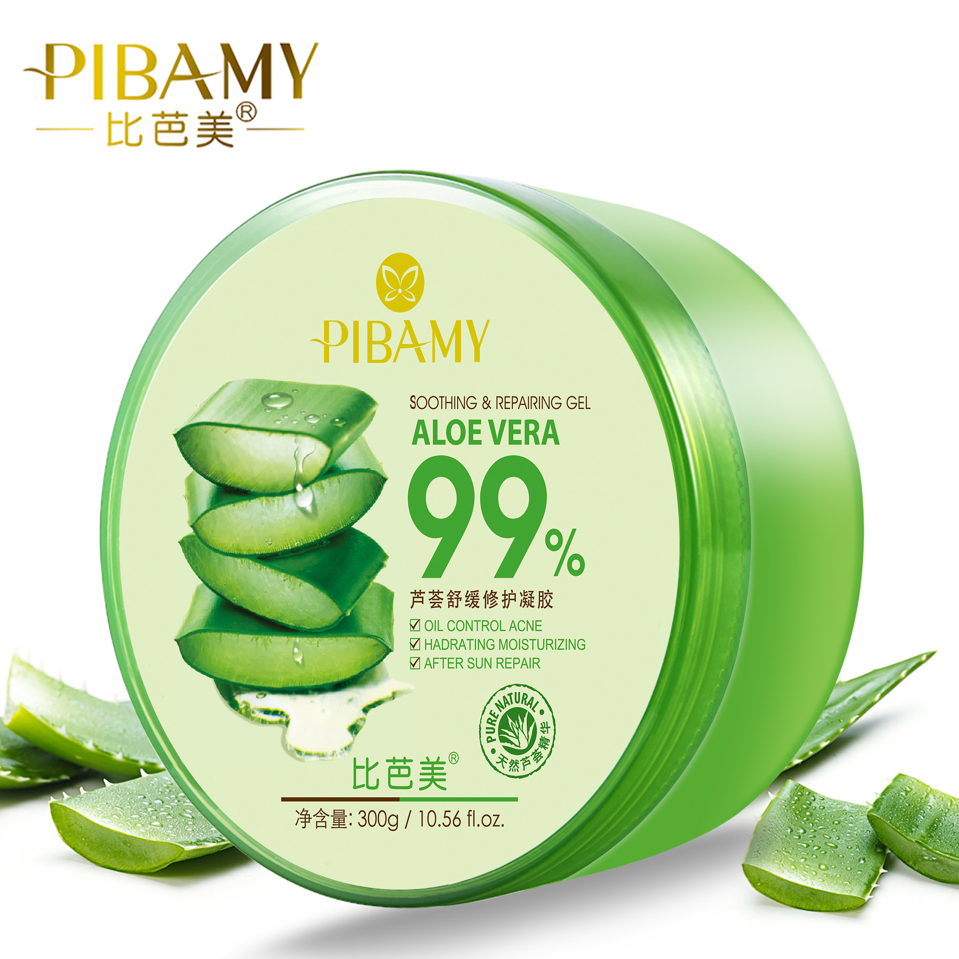 Bi Ba Mei Mủ nha đam Chai tròn chính hãng Aloe Vera 300ml