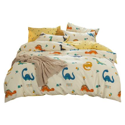 Beijirong drap mền  Bốn mảnh cotton cotton màu đỏ giường vải lanh chăn ngủ ký túc xá ba mảnh giường
