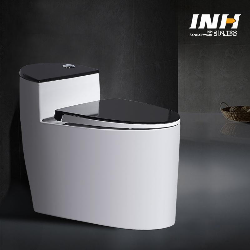 Yinfan Bồn cầu sang trọng gốm đen phun nhà vệ sinh siphon sáng tạo .