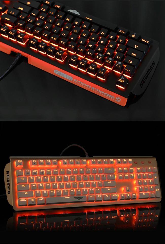 Bàn phím cơ cho máy tính có đèn phát sáng .