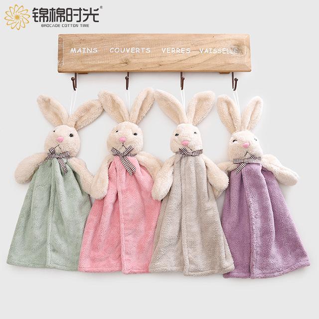 JMSG khăn lau tay Túi giúp WeChat chống cháy nổ trẻ em dễ thương Khăn nhung san hô nhà bếp làm sạch