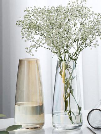 LEZHIMU Bình bông  Bình thủy tinh Bắc Âu tươi trang trí hiện đại phòng khách tối giản trong suốt nhi