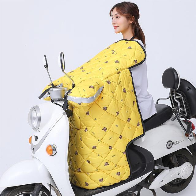 Tấm chắn gió Kính chắn gió xe điện là mùa đông mới chất lượng cao cashmere mã hóa dày không thấm nướ