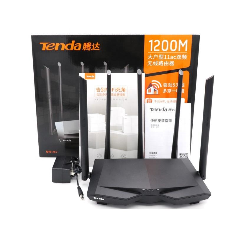 Modom mạng không dây Tenda AC7 gigabit 5g tần số kép Bộ định tuyến AC1200M