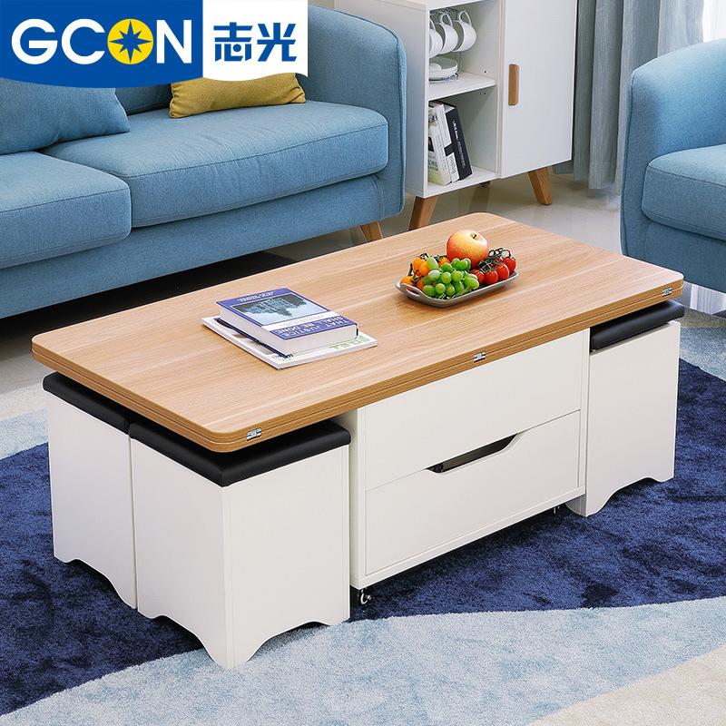 GCON Bàn trà Căn hộ nhỏ phòng khách phòng ăn nâng bàn cà phê bàn ăn Nội thất Bắc Âu đa chức năng sán