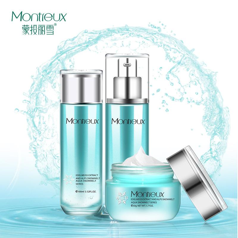 MONTREUX bộ sản phẩm Bộ dưỡng ẩm dành cho da của Littue Lixue Toner Lotion Snow Melting Cream Care o