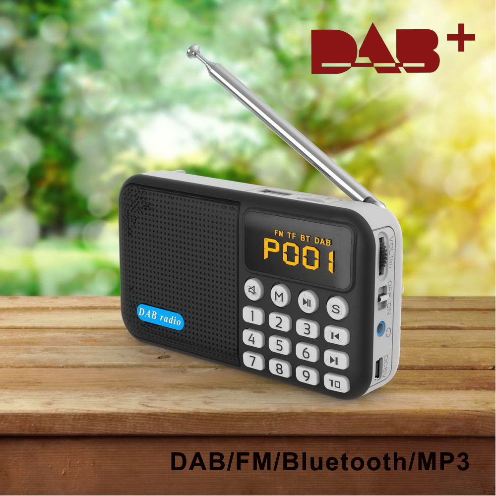 DAB Máy Radio Xuất khẩu xuyên biên giới đa chức năng DAB radio kỹ thuật số di động Đài phát thanh DA