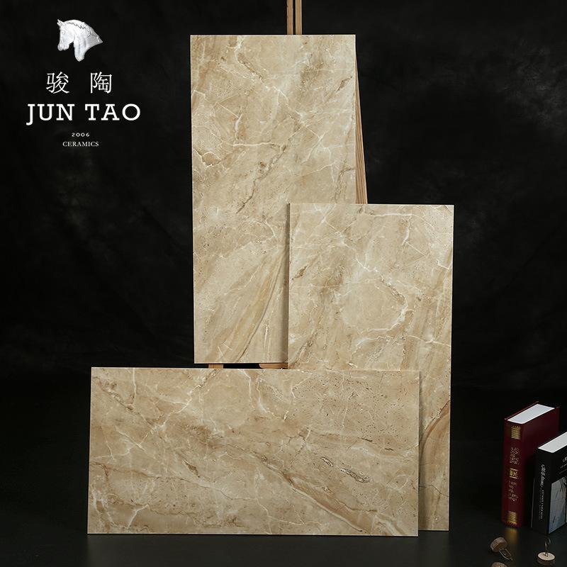 JUNTAO Gạch men sứ gốm bên trong gạch 400 * 800MM gạch đá cẩm thạch giữa tấm sàn gạch gốm nhà máy bá