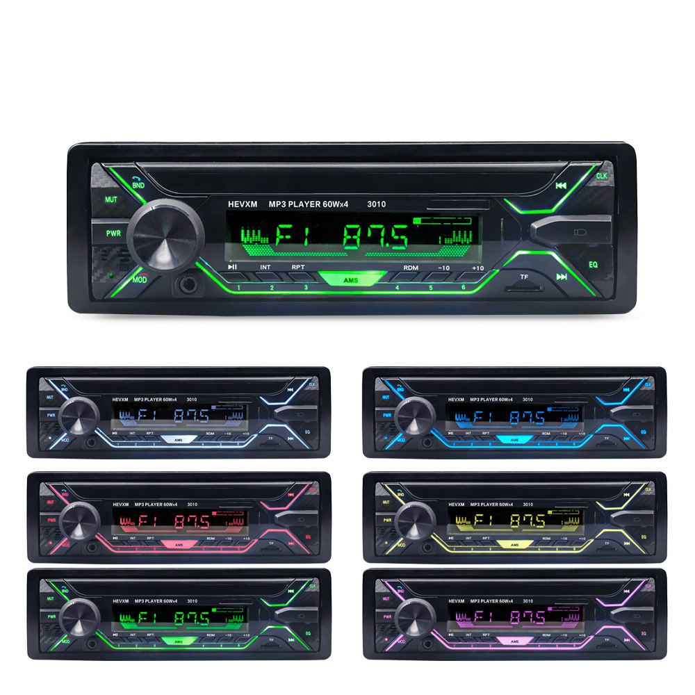 HEVXM Máy Radio Xe mp3 máy nghe nhạc bluetooth xe rảnh tay gọi mp3 xe nhạc radio phiên bản mới đầy m