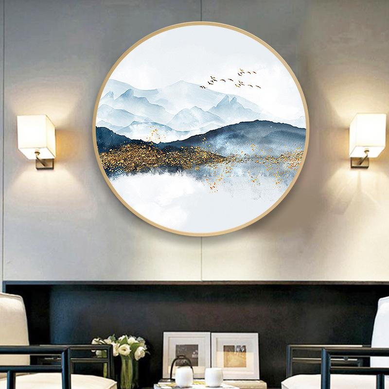 MOPAI Tranh trang trí Nhà máy trực tiếp mới Trung Quốc phong cách tròn trang trí sơn hiện đại tối gi