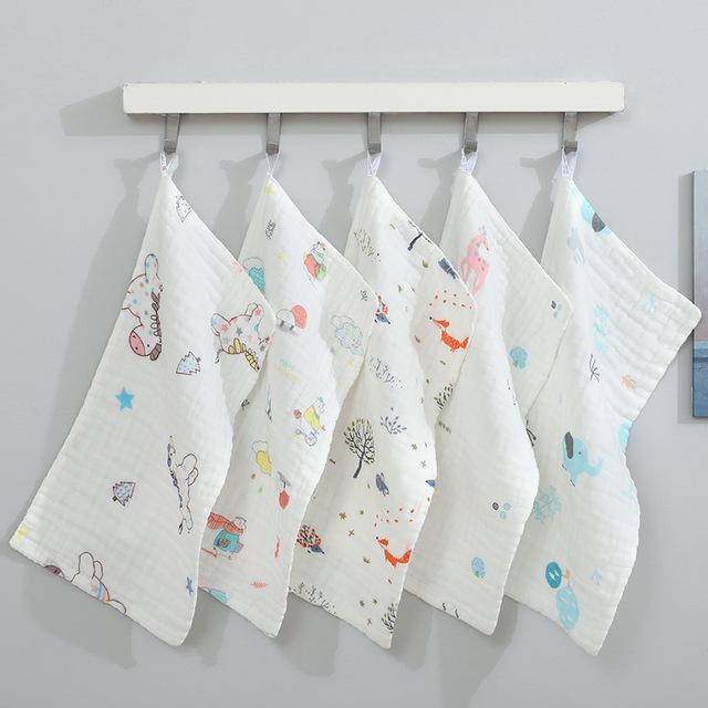 Thị trường khăn Túi kẹp tóc Sáu lớp Bông nhỏ Khăn mặt cho trẻ em Khăn mặt Mặt Khăn mặt 6 lớp Mật độ