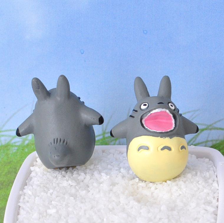 Nút cắm chống bụi Hayao Miyazaki Doll, My Neighbor Totoro Micro-cảnh trong chậu Hoa sắp xếp vườn Đồ