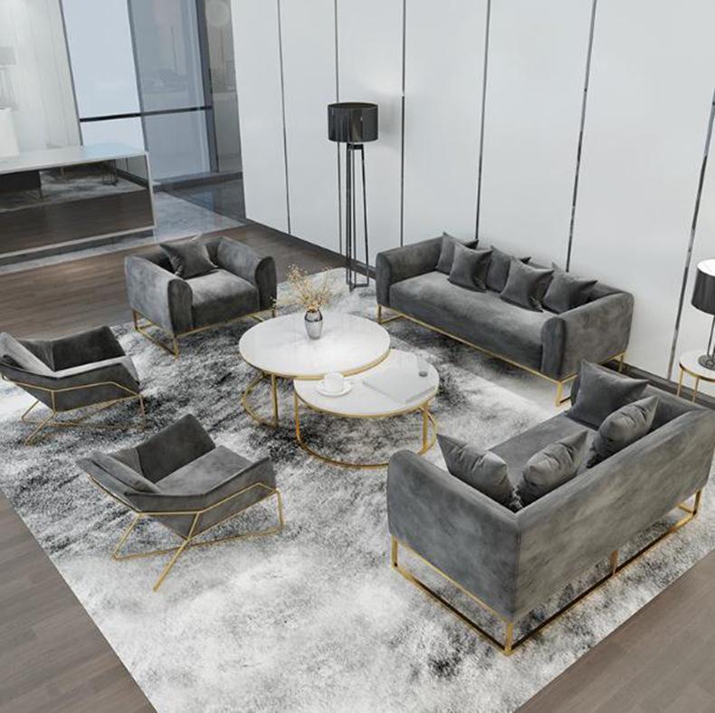 LIELI Ghế Sofa Sofa sắt Bắc Âu sofa bàn cà phê đặt phòng khách khách sạn tiếp tân đơn giản ánh sáng