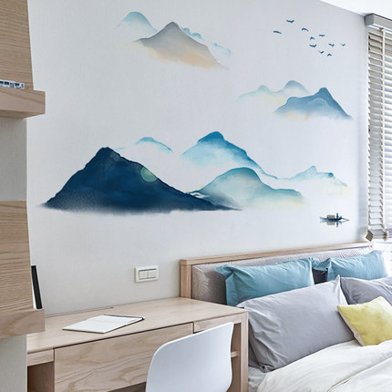 Lesign Giấy dán tường  Ký túc xá hình nền tự dính hình nền tường trang trí poster tường sticker phòn