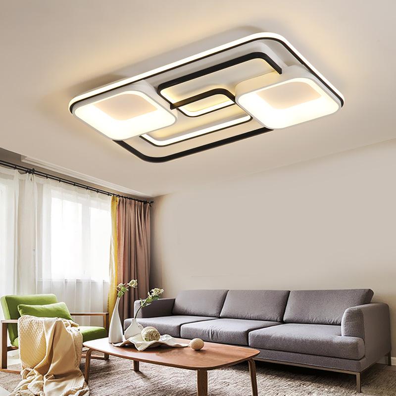 đèn ốp trần Hiện đại tối giản chiếu sáng acrylic led trần đèn hình chữ nhật phòng khách đèn phòng ng