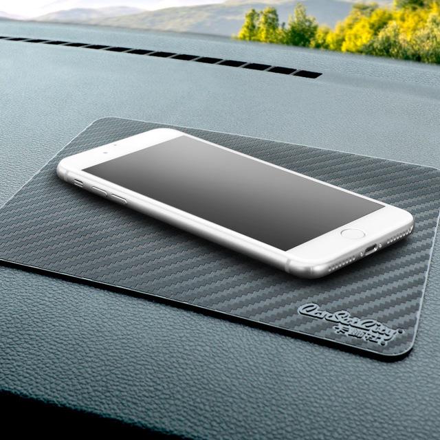 Đệm chống trơn trượt để điện thoại di động thảm sợi carbon
