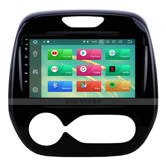 Màn hình cảm ứng xe Android 9 inch Loa Bluetooth cho 11-16 Renault CLIO (điều hòa tự động)