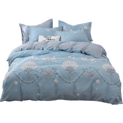 BEIJIRONG Bộ drap giường  Bộ đồ giường bằng vải nhung Bắc cực bốn mảnh cotton bed quilt quilt bed ba