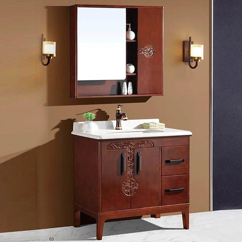 Dingsen - Tủ treo lưu trữ cho phòng tắm bằng gỗ sồi .