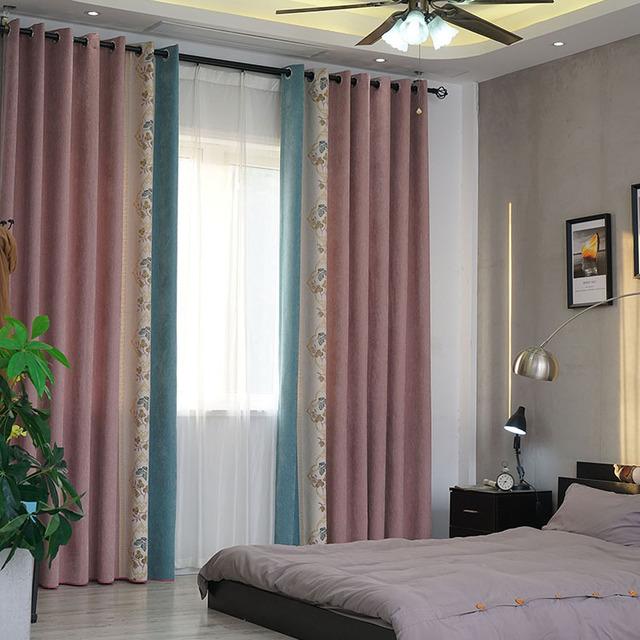 ZIYUNXUAN rèm cửa sổ Nhà máy sản xuất túi tóc trực tiếp cổ phiếu Trung Quốc chenille jacquard màu hồ