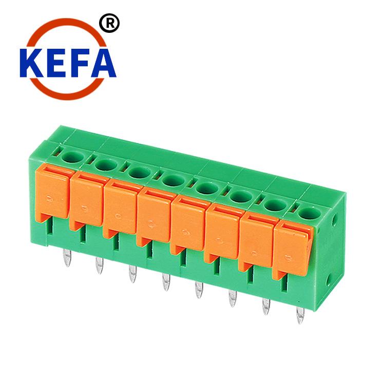 KEFA Cầu đấu dây Domino Thiết bị đầu cuối pcb loại lò xo không vít Kefa Thiết bị đầu cuối KF142V-5.0