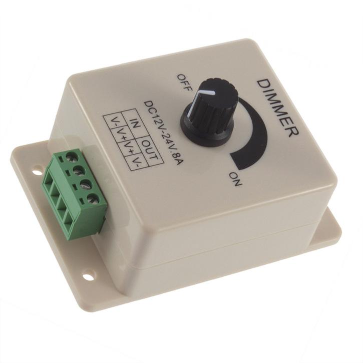 Công tắc điều chỉnh độ sáng Đèn LED mờ mờ và dải ánh sáng cứng với bộ điều chỉnh độ sáng Công tắc đi