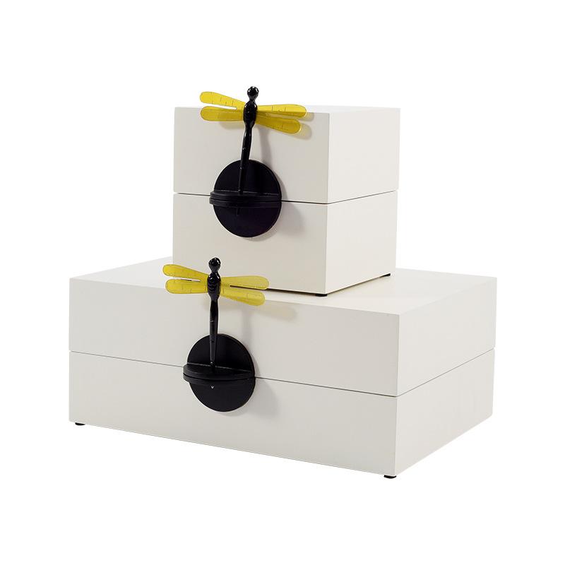 BAOJIA Hộp trang sức Mới Trung Quốc ánh sáng sang trọng hộp trang sức hộp trang sức mô hình phòng sá