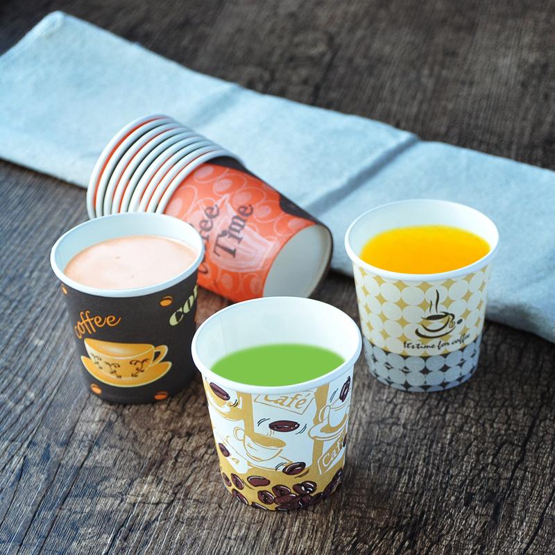 QIANQIAN Ly giấy 4 oz ounce 100ml cốc nếm dùng một lần cốc nhỏ dùng thử 1000 ly uống thử
